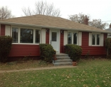 Rustic Red Siding Front House View