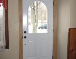 Green Arched Door Inside