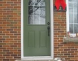 Green Arched Door Outside