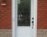 York 3/4 lite Steel Door with Fulllite Screen Door outside