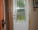 York 3/4 Lite Steel Door Inside View