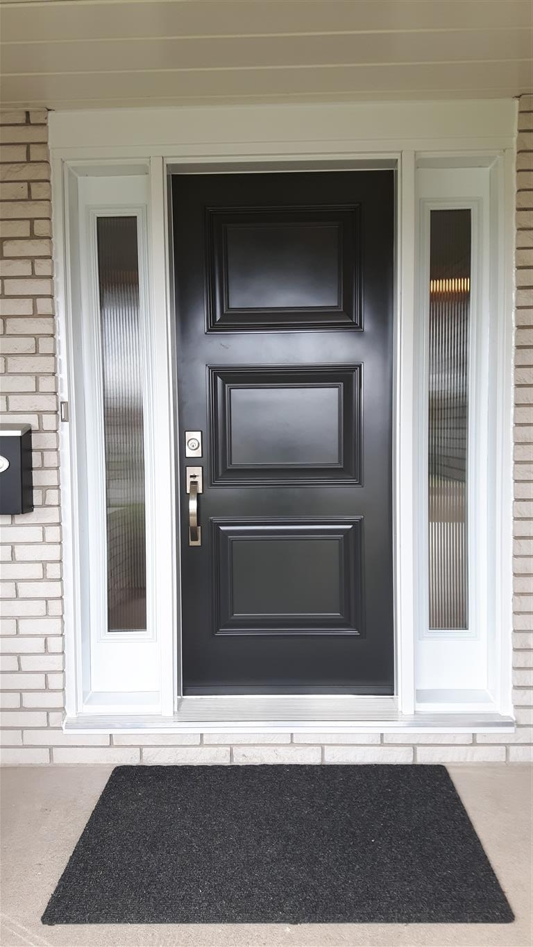 Black Executive Door with Frosted Sidelites
