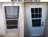 3/4 Venting Back Steel Door Before and After