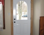 Green Arched Door Inside