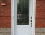 York 3/4 lite Steel Door with Fulllite Screen Door outside
