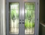 dorplex full lite claymore steel door inside