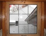 Awning Window Over Kitchen Sink Oak Trim