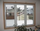 Back Window Trimed in Oak