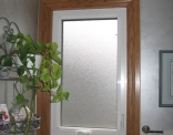Bathroom Window Frosted with Wide Trim