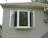 Bay Window Outside Casements Open