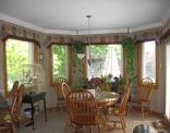Breakfast Nook Windows with New Trim