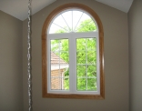 Front Entrance Arched Window Inside