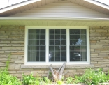 Front Picture Window 3 Double Hung with Grills