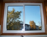 Kitchen Window Inside Finished with Wood Casing